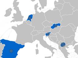 Kaartje deelnemende landen SEEtheSkills